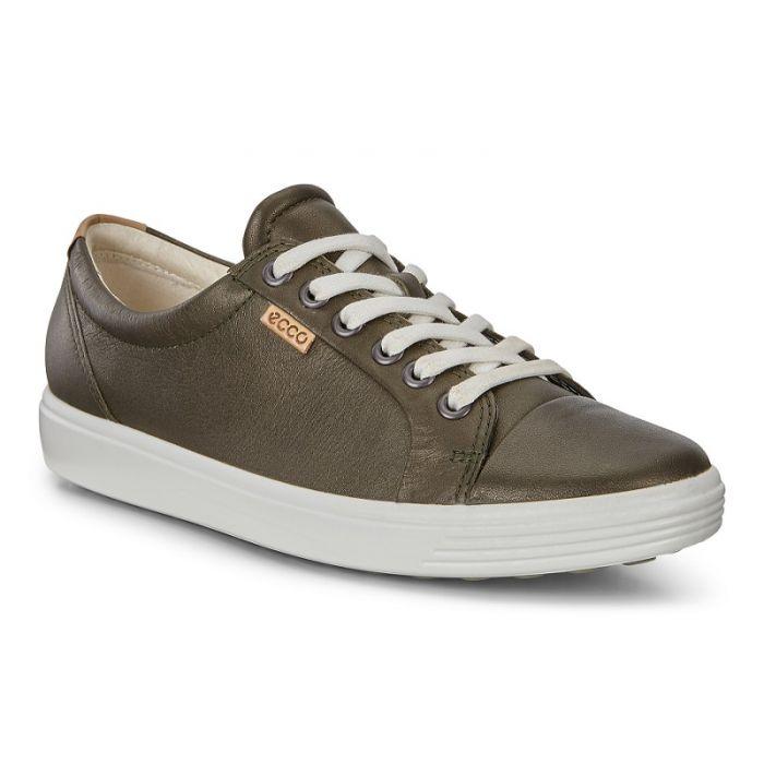 ECCO Soft 7 Sneaker in Deep forest Metallic